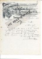 59 - Nord - TOURCOING - Facture LENIS - Laines Brutes, Peignées Et Filées - 1904 - REF 86A - 1900 – 1949