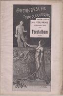 RARE Album Feestalbum ANTWERPSCHE TURNVEREENIGING Anvers Anniversaire - Programma's