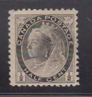CANADA Scott # 74 MH - Queen Victoria Numeral Issue With 2 Thins Spacefiller - 1851-1902 Reign Of Victoria