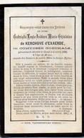 Gabrielle De Kerchove D'Exaerde Née Goethals +1896 Gand Gent 23 Ans Buizingen Burgemeester Surmont De Volsberghe - Avvisi Di Necrologio