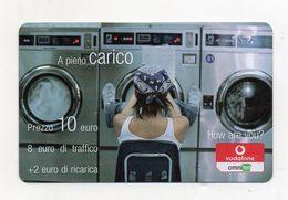 """Ricarica Telefonica """" VODAFONE/OMNITEL """" - A Pieno Carico - Da 10 Euro - Usata - Validità 12.2008 -  (FDC7717) - Italy"""