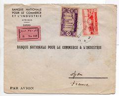 - Lettre Recommandée BANQUE NATIONALE POUR LE COMMERCE ET L'INDUSTRIE, DAMAS Pour LYON (France) 23.5.1953 - A ETUDIER - - Syrie