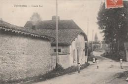 UNIENVILLE - LA GRANDE RUE - BELLE CARTE ANIMEE - L'EGLISE - 2 SCANNS -  2 SCANNS - TOP !!! - France