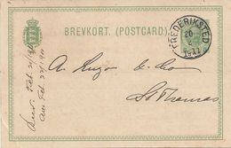 Danish West Indies, UX13 Postal Card, Used In 1911, Sent From Frederiksted To St. Thomas. - Danish West Indies