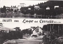 CARTOLINA - POSTCARD -REGGIO EMILIA -  SALUTI DAL LAGO DEL CERRETO - R.E - M.1300 - Reggio Emilia