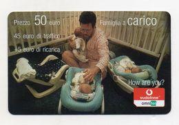 """Ricarica Telefonica """" VODAFONE/OMNITEL """" - Famiglia A Carico - Da 50 Euro - Usata - Validità 31.12.2006 -  (FDC7718) - Italy"""