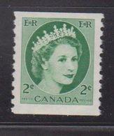 CANADA Scott # 345 MNH - QEII Coil Stamp - 1952-.... Reign Of Elizabeth II