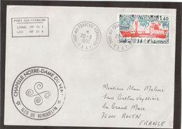 3- TAAF PO67 Du 20.3.1980  KERGUELEN. Cachet Circulaire CHAPELLE NOTRE-DAME DU VENT. - Lettres & Documents