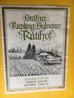 6505 - Stäfner Riesling X Sylvaner Rütihof Ürikon Suisse - Etiquettes