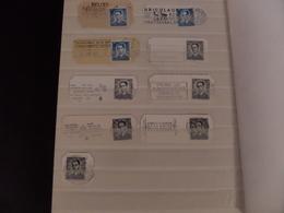Roi Baudouin, 59 Cachets, 52 Flammes, 61 TP (52 TP P.P.), 7 TP (taxe - Lion Héraldique-entier Postal) - 1953-1972 Lunettes