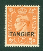 Morocco Agencies - Tangier: 1949   KGVI 'Tangier' OVPT  SG261    2d    MH - Morocco (1956-...)