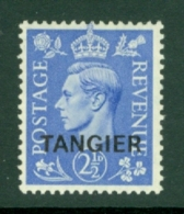 Morocco Agencies - Tangier: 1949   KGVI 'Tangier' OVPT  SG262    2½d    MH - Morocco (1956-...)