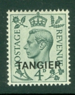 Morocco Agencies - Tangier: 1949   KGVI 'Tangier' OVPT  SG264    4d    MH - Morocco (1956-...)