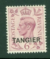Morocco Agencies - Tangier: 1949   KGVI 'Tangier' OVPT  SG266    6d    MH - Morocco (1956-...)