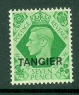 Morocco Agencies - Tangier: 1949   KGVI 'Tangier' OVPT  SG267    7d    MH - Morocco (1956-...)