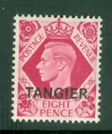 Morocco Agencies - Tangier: 1949   KGVI 'Tangier' OVPT  SG268    8d    MH - Morocco (1956-...)