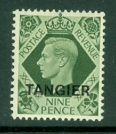 Morocco Agencies - Tangier: 1949   KGVI 'Tangier' OVPT  SG269    9d    MH - Morocco (1956-...)