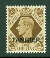 Morocco Agencies - Tangier: 1949   KGVI 'Tangier' OVPT  SG272    1/-    MH - Morocco (1956-...)
