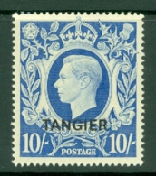 Morocco Agencies - Tangier: 1949   KGVI 'Tangier' OVPT  SG275    10/-    MH - Morocco (1956-...)