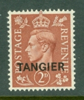 Morocco Agencies - Tangier: 1950/51   KGVI 'Tangier' OVPT  SG283    2d    MH - Morocco (1956-...)