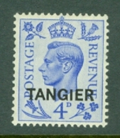 Morocco Agencies - Tangier: 1950/51   KGVI 'Tangier' OVPT  SG285    4d    MH - Morocco (1956-...)