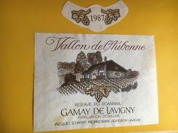 6507 - Vallon De L'Aubonne Gamay De Lavigny 1987 Jacques Schmidt Suisse - Etiquettes
