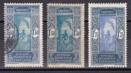 Dahomey N°95*, 95, 96* - Unused Stamps