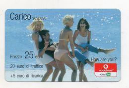 """Ricarica Telefonica """" VODAFONE/OMNITEL """" - Carico Sospeso - Da 25 Euro - Usata - Validità 12.2008 -  (FDC7719) - Italy"""