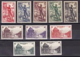 Dahomey N° 120* à 130* - Dahomey (1899-1944)