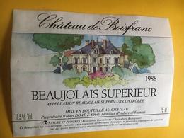 6511 - Château De Boisfranc 1988 Beaujolais Supérieur - Beaujolais