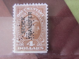 STOCK TRANSFER DOCUMENTARY INTERNAL Stamp United States America USA Perforés Perforé Perfin Perfins Perforated Perfo - Perfins