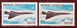 France PA  43 Concorde Variété Gris Et Noir  Neuf **  TB - Variedades Y Curiosidades