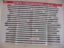 Poster Représentant La Composition De Trains Internationaux Des Années 1970/80 - Ferrovie