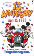 Télécarte Japon * 110-174939 * DISNEY * DISNEYLAND (4960) 13th ANNIVERSARY * Japan Phonecard Telefonkarte - Disney