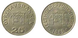 01678 GETTONE JETON TOKEN DENMARK AMUSEMENT PARK DYREHAVSBANKKER TELTHOLDERFORENINGEN 25 - Tokens & Medals