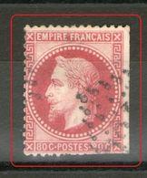 "N° 32d°_ Rose Vif ""groseille""_2° Choix - 1863-1870 Napoléon III Lauré"
