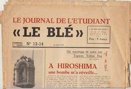 """Journal De L'étudiant """"le Blé"""" 20 MAI 1949 - Journaux - Quotidiens"""