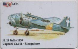 Scheda Telefonica ATW Serie Aerei N. 29 Caproni Ca. 311 Ricognitore Italia 1939 - Aerei