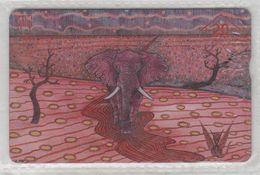 AUSTRIA 1999 ART KUNST WOLFGANG PUPEK ELEPHANT USED PHONE CARD - Austria