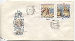 CSSR # 2319-20 FDC. Wandteppiche Bratislava, Gobelins, Hero Leander, Eros. - FDC