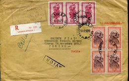 29988 Congo Belge, Lettre Circuled Registered 1952 From Leopoldville To Italy - Belgian Congo