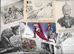 Lot 1091 De 10 CPA Satirique Caricature Kaiser Divers Déstockage Pour Revendeurs Ou Collectionneurs - Postcards