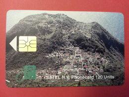 SATEL SABA First Card Mint 120u 3000ex 10/96 MINT No Blister Antilles - Antilles (Netherlands)