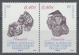 French Antarctic (FSAT), Minéral, Hematite, 2013, MNH VF  A Pair Se-tenant - Unused Stamps
