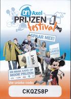 Nederland - Albert Heijn  (AH) - Prijzenfestival 2017 - Axel - Mickey Mouse - Walt Disney - 5 Vouchers - Loterijbiljetten