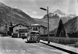 """07280 """"(AO)  LA THUILE M. 1441-LUNGO DORA"""" ANIMATA,AUTO,CORRIERA,VERA FOTO,S.A.C.A.T. 2795, FOTO BERARD. CART NON SPED - Italia"""