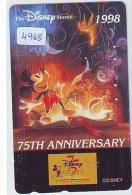 Télécarte Japon * 110-203502 * THE DISNEY STORE (4968) 75th ANNIVERSARY * JAPAN PHONECARD Telefonkarte - Disney
