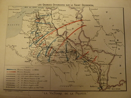 Carte Guerre 14/18 : Les Grandes Offensives Sur Le Front Occidental - Topographical Maps