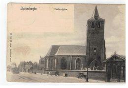 Blankenberghe    Veille église (begin 1900 Met Li Onder Stoomtram!!) - Blankenberge