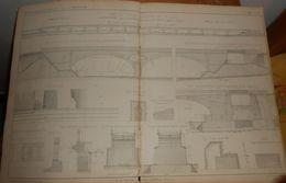 Plan Du Pont Du Plessis Les Tours Sur La Loire. 1859 - Public Works